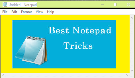Cool Notepad tricks for your PC - Best Hidden Computer